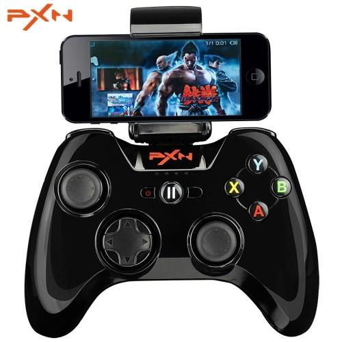 PXN - 6603 MFi Certified Wireless Bluetooth Game Controller Portable Joystick Vibration Handle Gamepad for iPhone / iPad / iPod