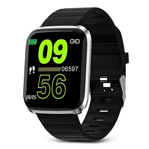 116 Pro 1.3 inch Large View Bluetooth Smart Sports Watch Activity Tracker